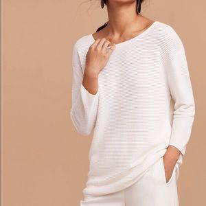 Aritzia Wilfred Blanchard Sweater in White